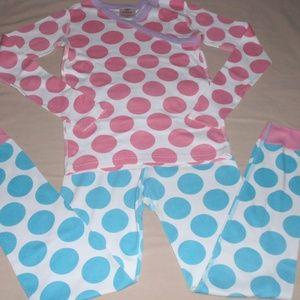 Hanna Andersson Girls Polka Dot Pajamas 140 10